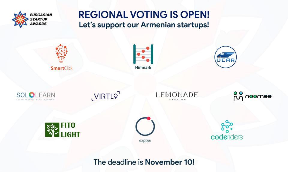 EuroAsian Startup Awards-ի քվեարկությունը բաց է