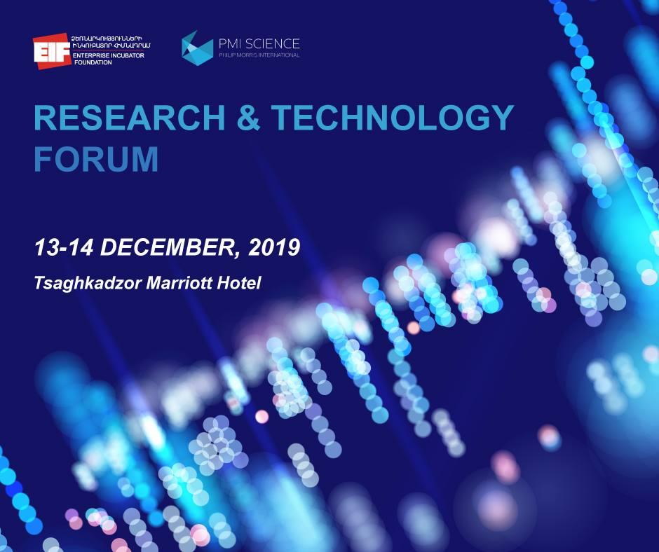 Տեղի կունենա Research and Technology Forum 2019-ը