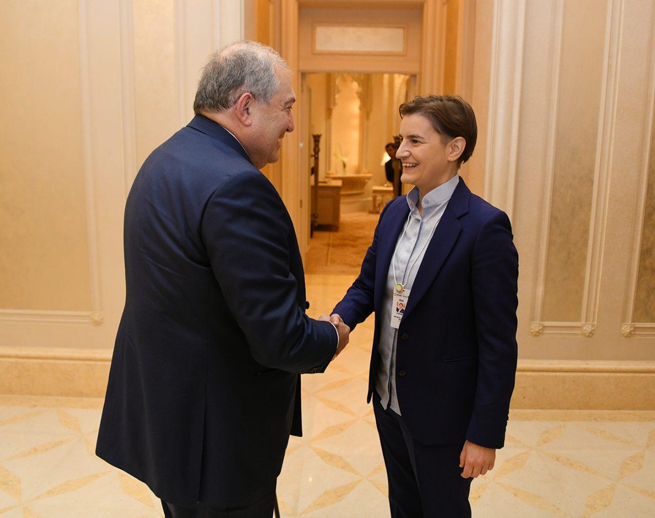 Արմեն Սարգսյանը և Սերբիայի վարչապետը քննարկել են Seaside Startup Summit-ի անցկացումը Սերբիայում