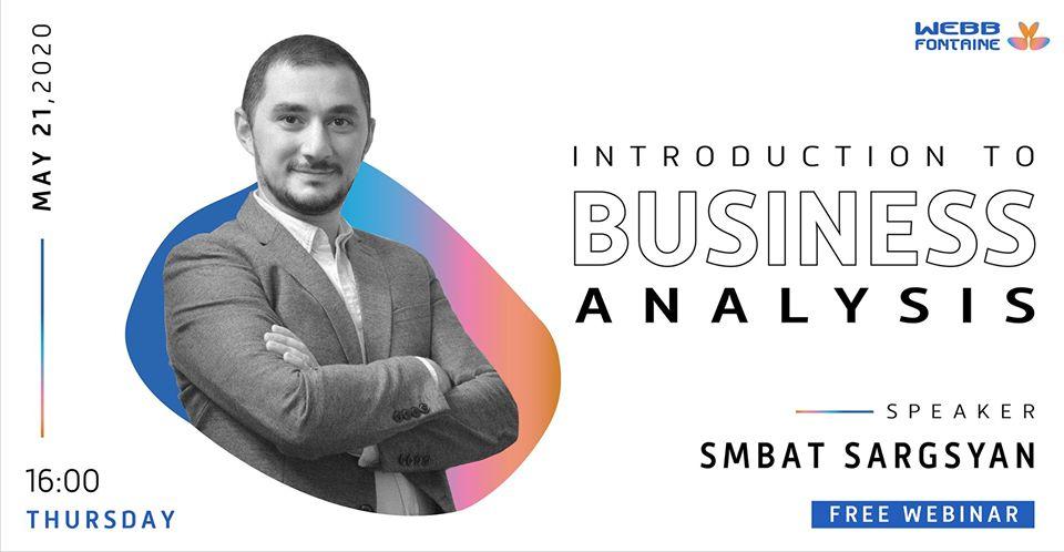 Webb Fontaine Armenia-ն կանցկացնի Introduction to Business Analysis վեբինարը
