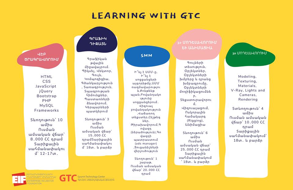 EIF-ը և GTC-ն մեկնարկում են ծրագրավորման, դիզայնի, 3D մոդելավորման խորացված դասընթացներ