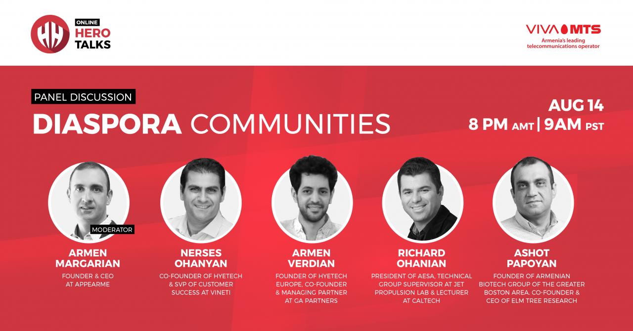 Online Hero Talks-ում պանելային քննարկում՝ սփյուռքի տեխնոլոգիական ձեռնարկատիրական համայնքների վերաբերյալ