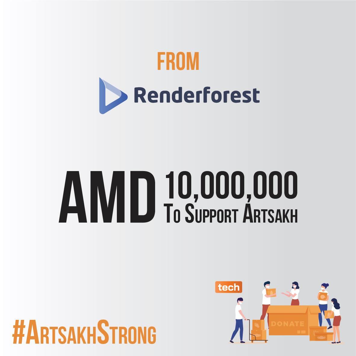 Renderforest-ը 10 միլիոն դրամ է փոխանցել Արցախի ֆինանսների նախարարությանը