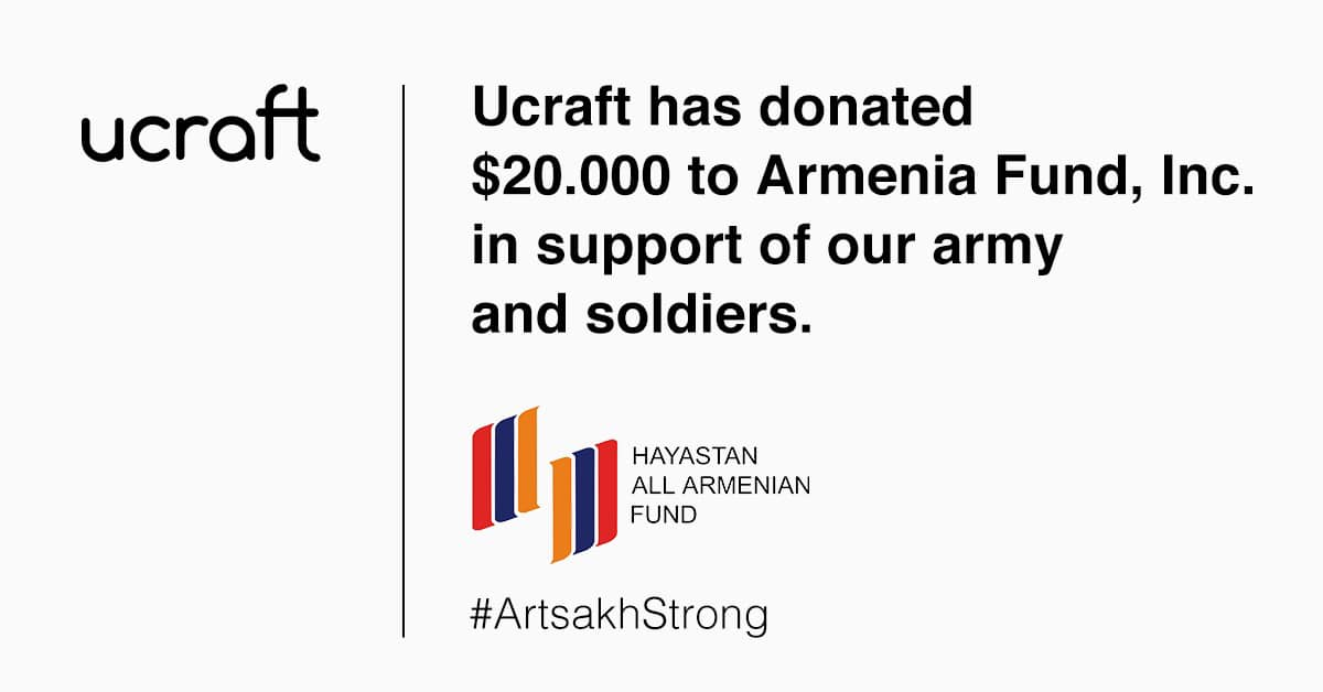 Ucraft-ը 20 հազար դոլար է նվիրաբերել «Մենք ենք, մեր սահմանները. բոլորս Արցախի համար» դրամահավաքին