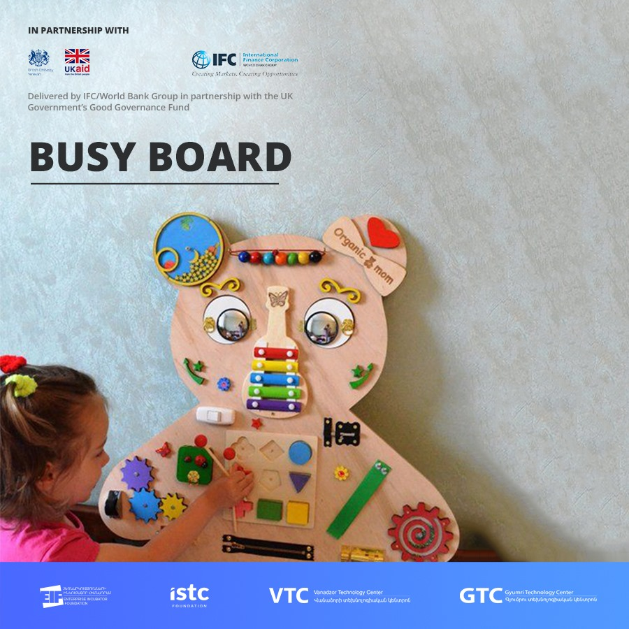 Ձեռներեց կանայք առաջարկում են Հայաստանում ստեղծել Busy board-երի արտադրություն