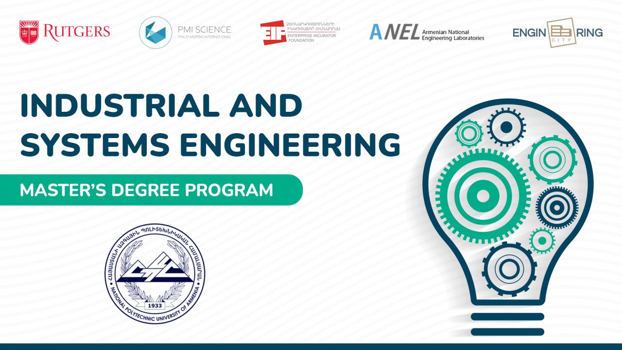 Մեկնարկել է «Արդյունաբերական և համակարգային ինժեներություն» մագիստրոսական ծրագրի ընդունելությունը