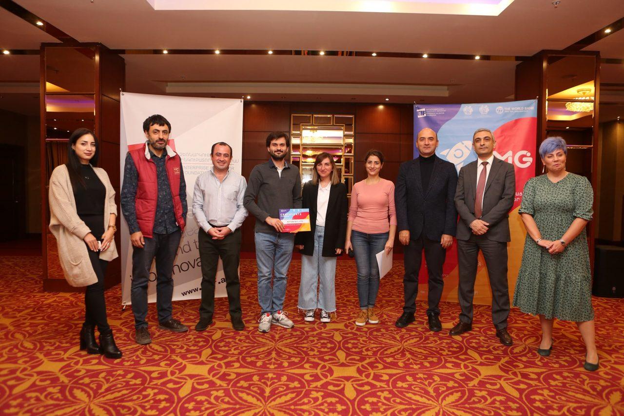 «Նորարարության զարգացման և Մարզային համաֆինանսավորվող դրամաշնորհներ»-ի ծրագրի մրցույթի հաղթողները հավաստագրեր են ստացել