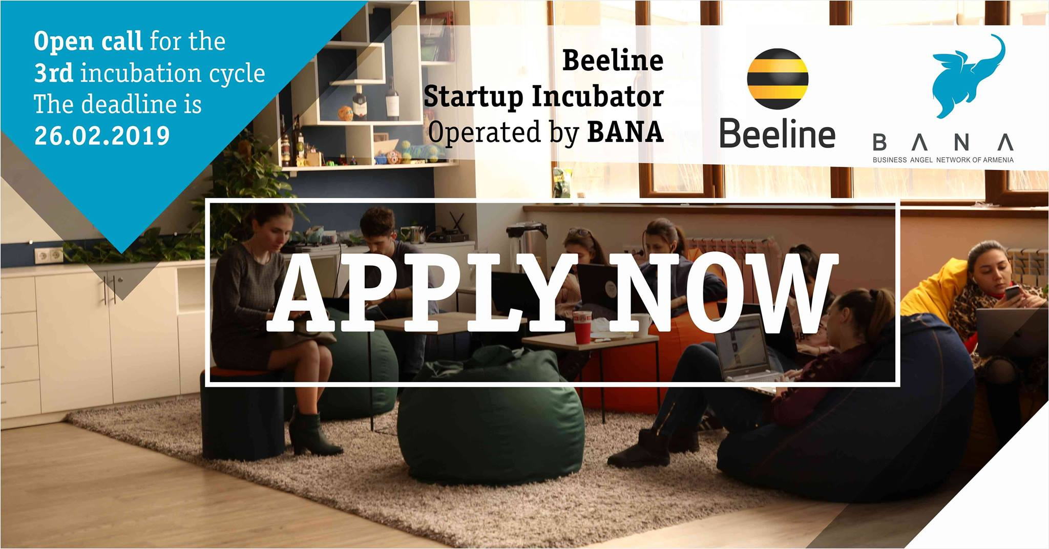 Beeline Ստարտափ Ինկուբատորը հայտարարում է ստարտափների ընդունելություն երրորդ ինկուբացիոն ցիկլի համար