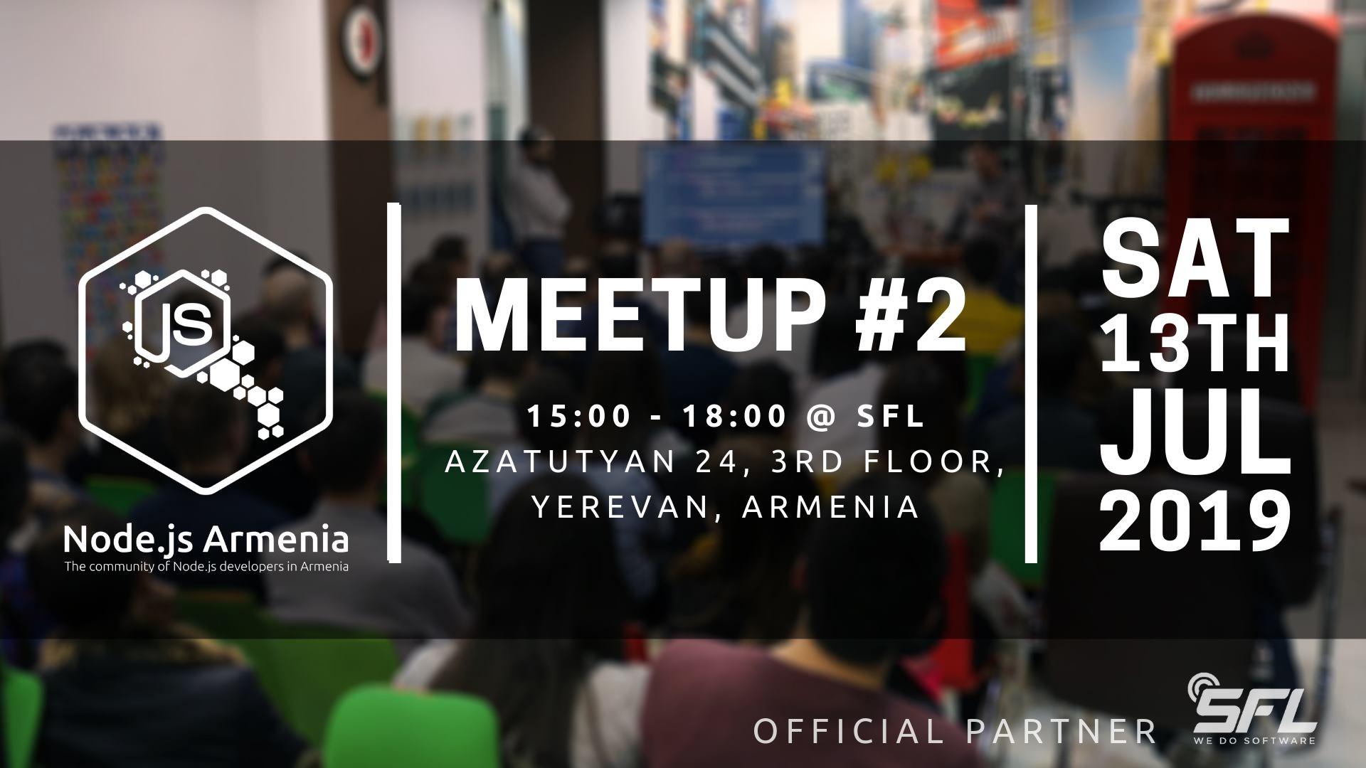 Node.js Armenia Meetup-ի գրանցումը բացված է
