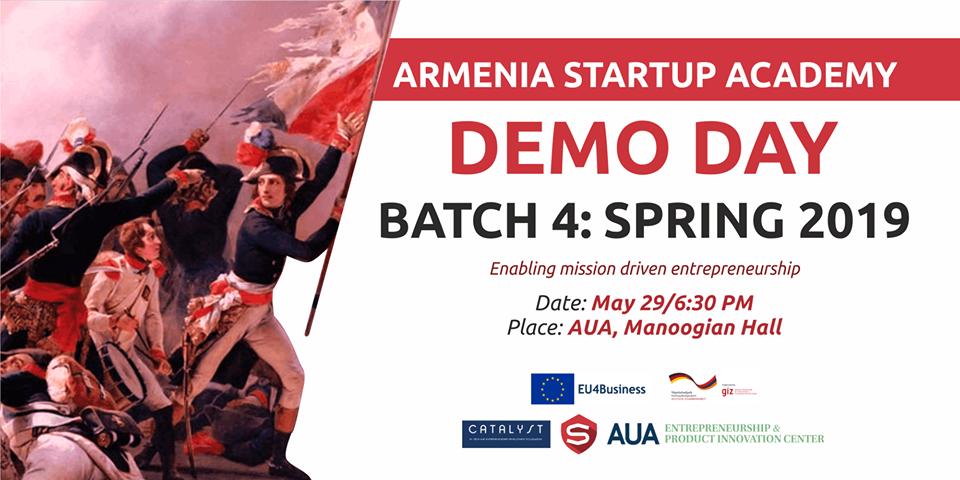 Armenia Startup Academy-ի գարնանային ծրագրի ռեզիդենտներն ելույթ կունենան ներդրողների առջև